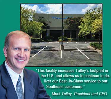 Talley opens its distribution center in Atlanta
